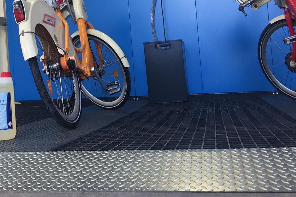 pavimentazione lavaggio bici